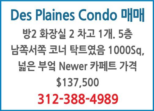 Des Plaines Condo매매