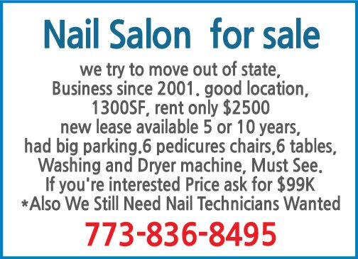 Nail Salon  for sale-8495