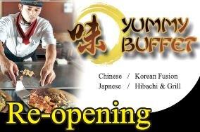 [Yummy Buffet 야미뷔페] 시카고 로렌스에 위치한 유일한 히바치그릴 뷔페, Re-Opening