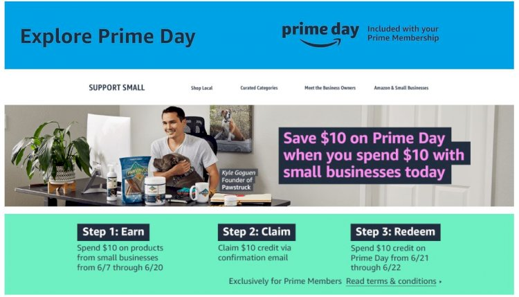 Amazon) 아마존 프라임 회원 스몰 비즈니스 스토어 10불이상 구매시 10불 크레딧!