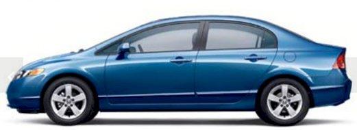 2007 Honda Civic Sdn EX FWD 4dr Car