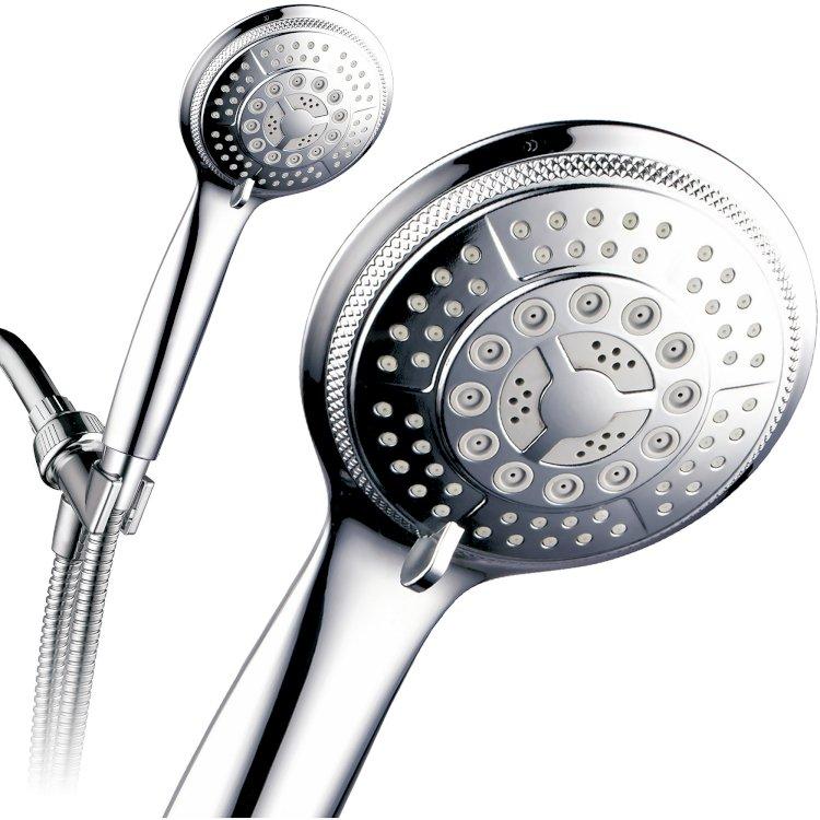 Walmart) PowerSpa 5-세팅 럭셔리 핸드 샤워기 호스 포함 $8.72