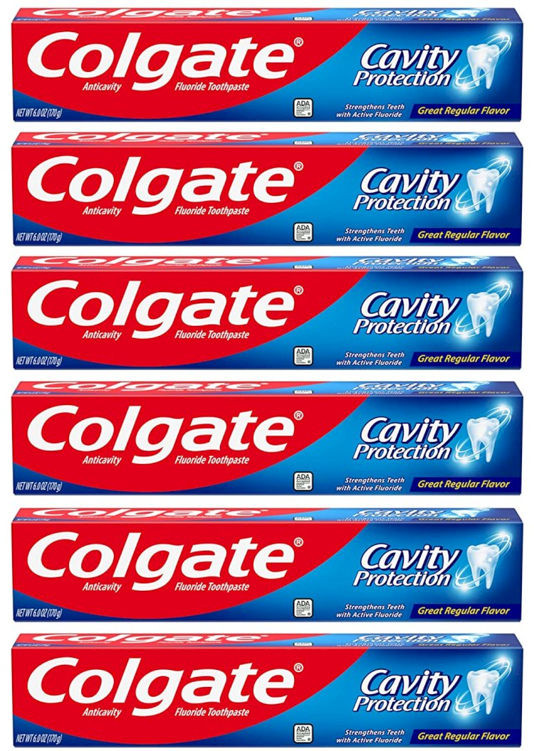 Amazon) 6-Pack 6-Oz Colgate Cavity Protection Toothpaste with Fluoride $5.60