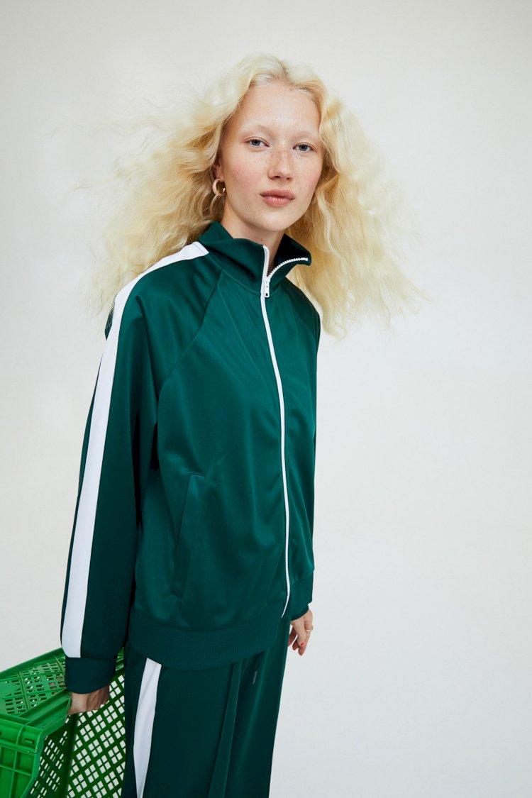 H&M) 오징어게임 스타일 트랙 쟈켓 $29.99/바지 $24.99